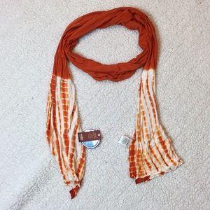 NWT No Boundries spice orange tie dye jersey scarf